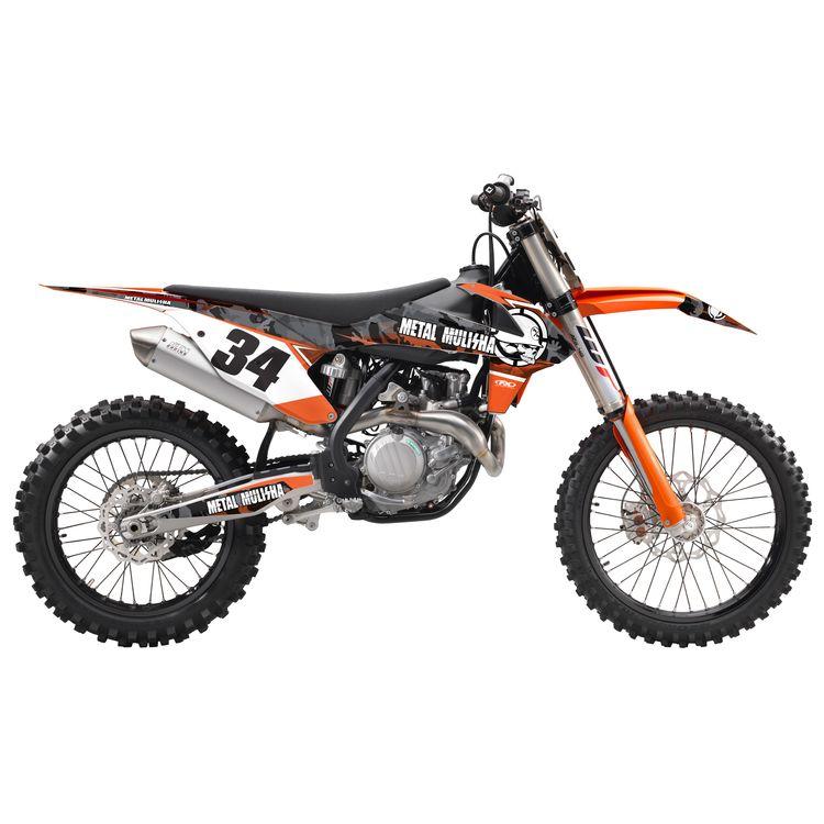 Factory Effex Metal Mulisha Shroud / Airbox Graphics Kit KTM SX / EXC / MXC 125cc-525cc 2005-2007