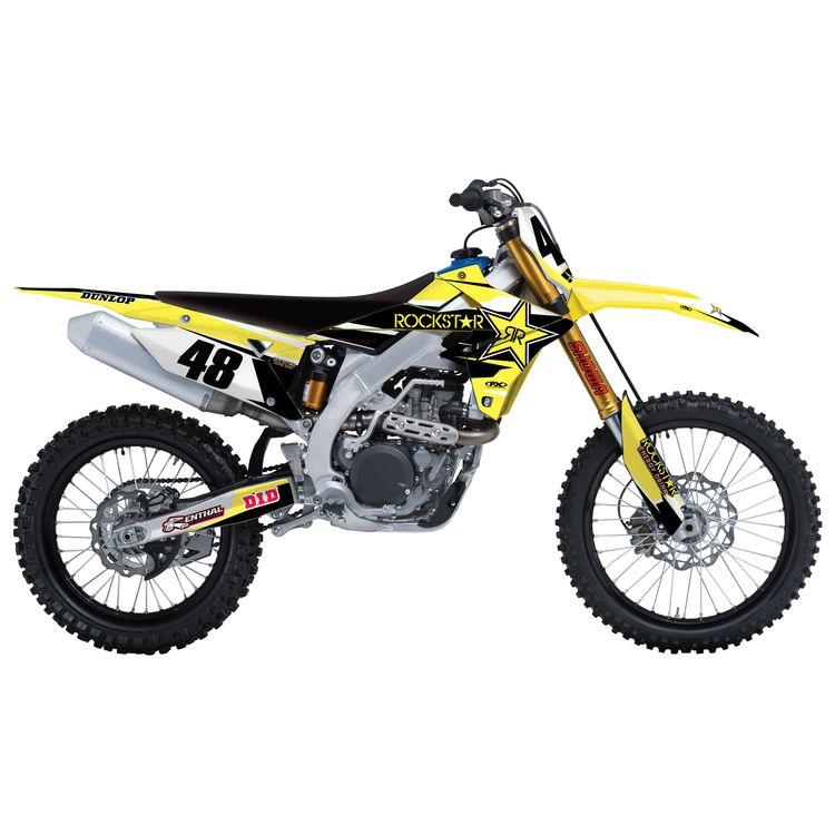 Factory Effex Rockstar Shroud / Airbox Graphics Kit Suzuki RM125 / RM250 2001-2008