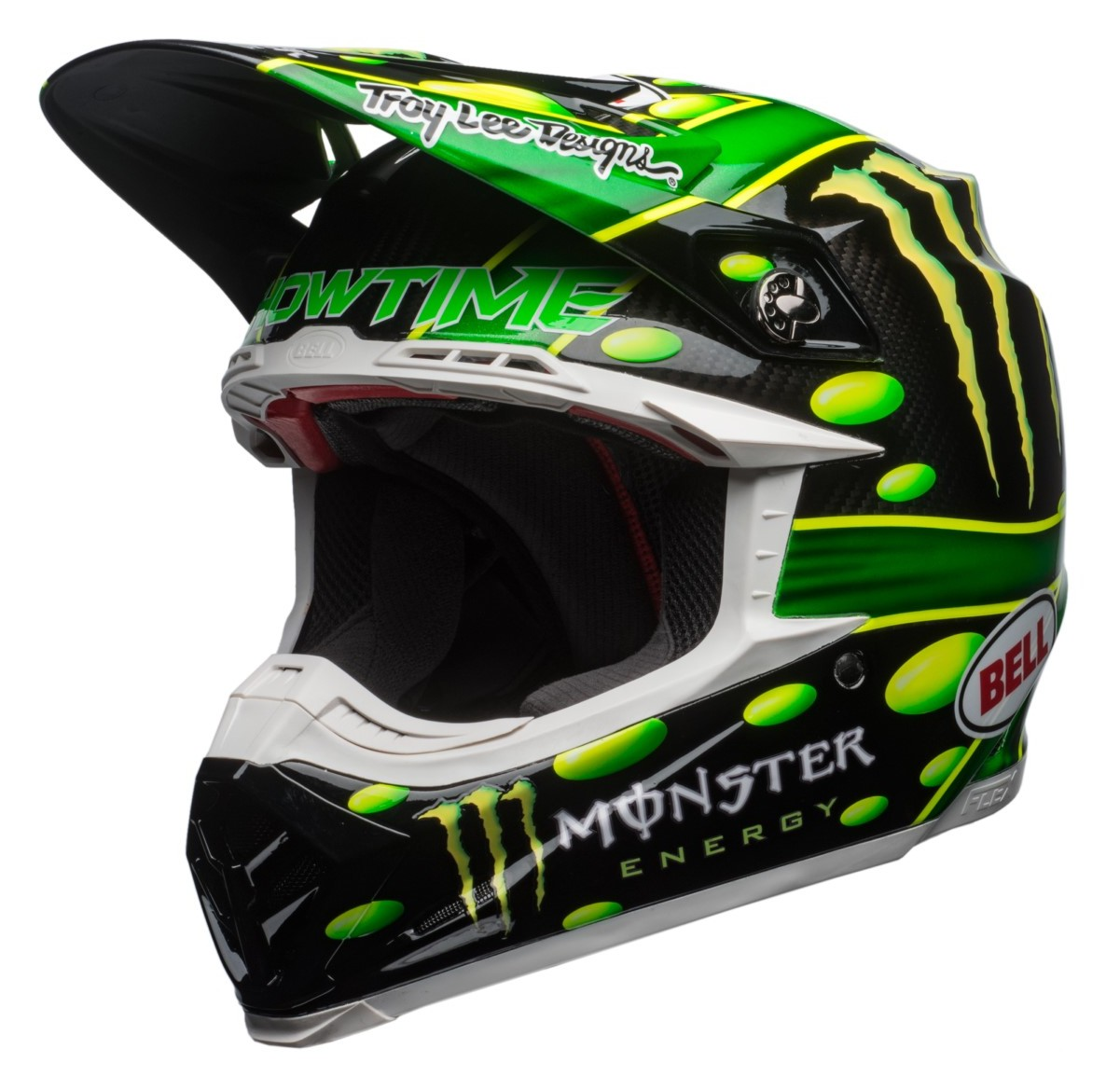 Bell Moto 9 Flex Helmet >> Bell Moto-9 Carbon Flex MC Monster Replica 2018 Helmet - Cycle Gear