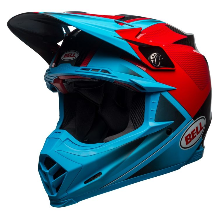 c7270283 Bell Moto-9 Carbon Flex Hound Helmet. Write a Review. Cyan/Red