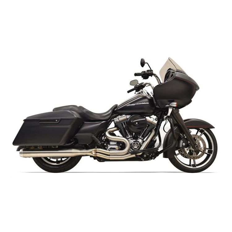 Bassani Road Rage III Stainless 2-Into-1 Straight Can Exhaust For Harley Touring 2017-2021