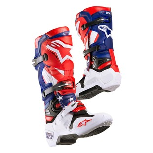 Alpinestars Tech 10 LE Nations Boots (Color: Red/White/Blue / Size: 12) 1252177