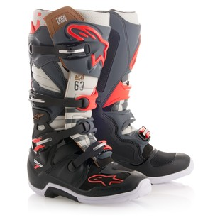 Alpinestars Tech 7 Black Jack LE Boots (Color: Black/Grey/Red / Size: 8) 1254981