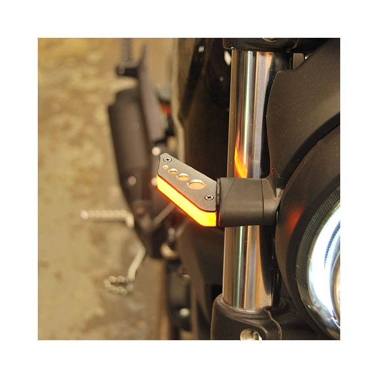New Rage Cycles LED Front Turn Signals Ducati Scrambler Cafe Racer / Sixty2 / Desert Sled 2016-2018