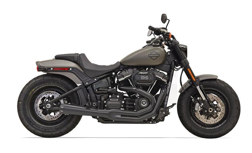 bassani road rage 2 into 1 exhaust for harley softail fat bob 2018 cycle gear. Black Bedroom Furniture Sets. Home Design Ideas