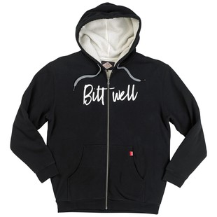 Biltwell Flash Sherpa Zip Hoodie Sweatshirt (Color: Black / Size: XL) 1273056