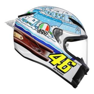 AGV Pista GP R Carbon Winter Test 2017 Helmet (Color: White/Blue / Size: LG) 1221956