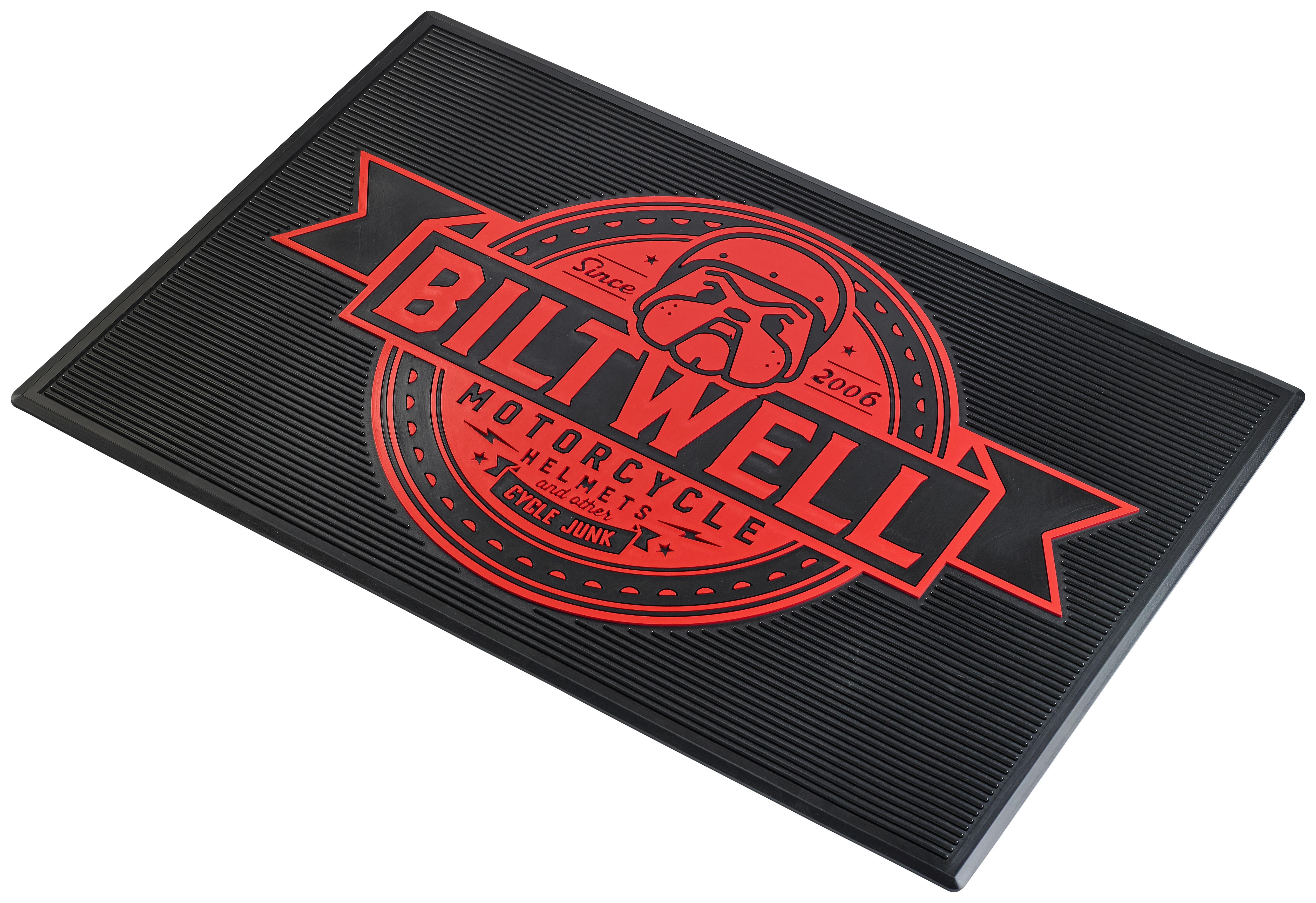 Biltwell Bulldog Floor Mat Cycle Gear