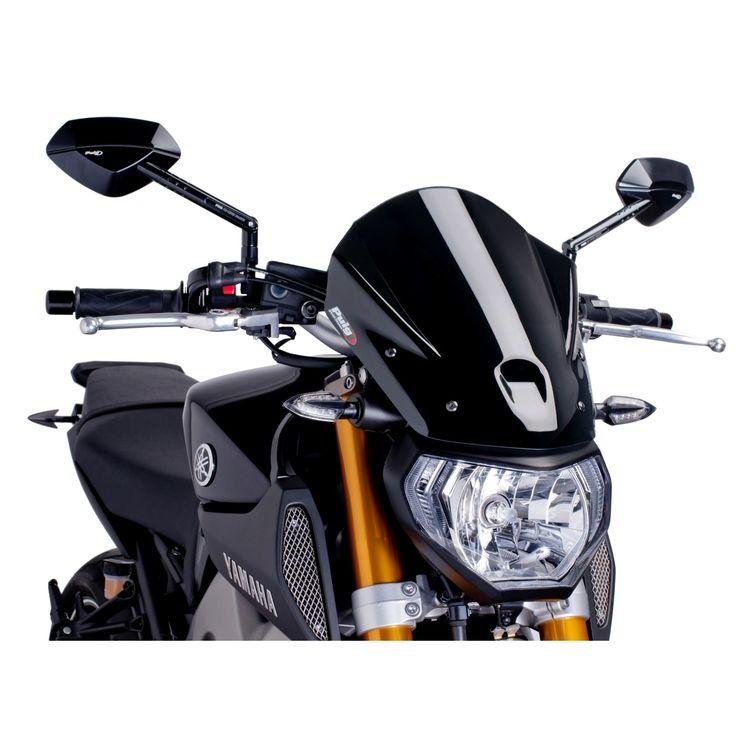 PUIG NAKED NEW GENERATION WINDSHIELD (BLACK) Fits: Yamaha