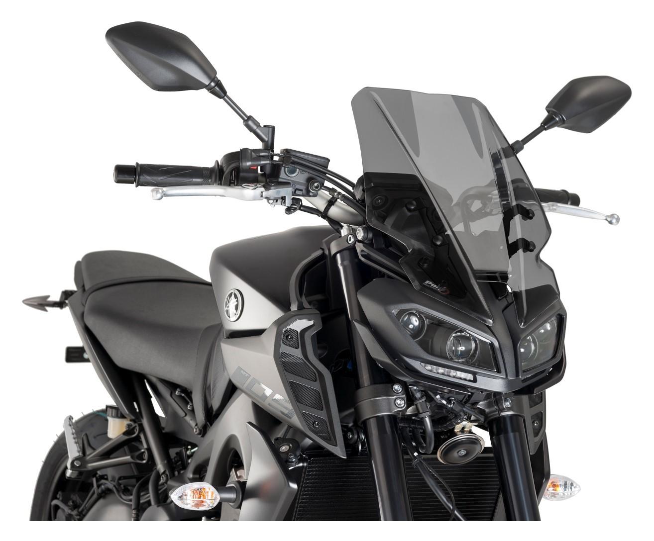 Motorcycle Windscreen Windshield Wind Shield Screen Protector with Bracket For 2017-2018 Yamaha MT-09 FZ-09 MT09 FZ09 Black