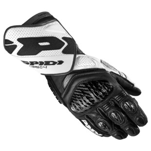 Spidi Carbo 4 Gloves (Color: Black/White / Size: 4XL) 1247341