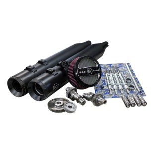 S&S Stage II Kit With 509G Cams For Harley Touring 1999-2006 (Finish: Black Exhaust) 1282877