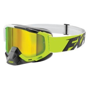 FXR Boost XPE MX Goggles (Color: Lime/White/Black / Lens: Smoke/Venom Finish) 1283936