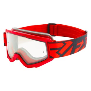 FXR Squadron MX Goggles (Color: Red/Black / Lens: Clear) 1283946