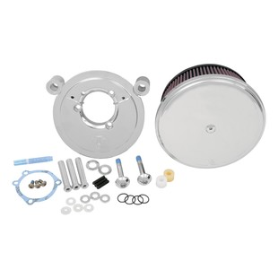 Arlen Ness Stage 2 Big Sucker Air Cleaner Kit For Harley Twin Cam 1999-2017 (Material: Standard Air Filter / Type: Smooth Chrome Steel Cover) 878229