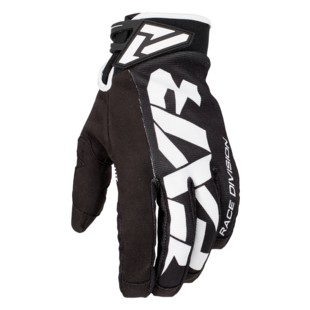 FXR Cold Cross Race Adjustable Gloves (Color: Black/White / Size: 3XS) 1284134