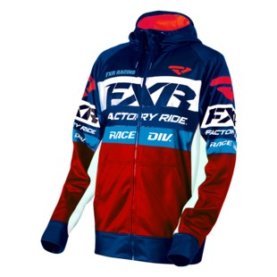 FXR Race Division Tech Hoody (Color: Navy/Red/Blue / Size: XL) 1284267