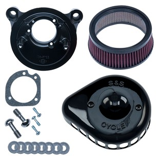 S&S Mini Teardrop Stealth Air Cleaner Kit For Harley EFI Big Twin 2001-2017 (Finish: Black) 1285431