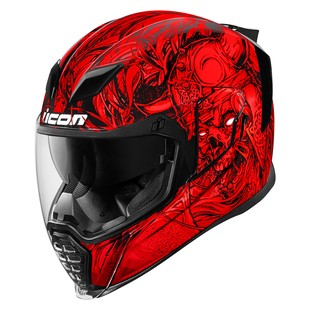 Icon Airflite Krom Helmet (Color: Red / Size: XS) 1286040
