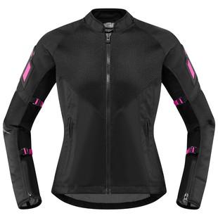 Icon Mesh AF Women's Jacket (Color: Black/Pink / Size: XL) 1285909