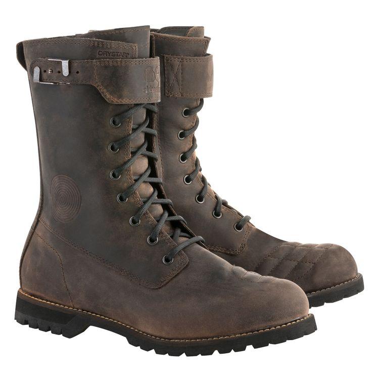 Gray 9.5 1 Alpinestars Twin Drystar Mens Street Motorcycle Shoes