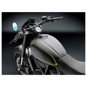 for Ducati Scrambler TF142A Rizoma Caf/é Racer Gas cap Silver