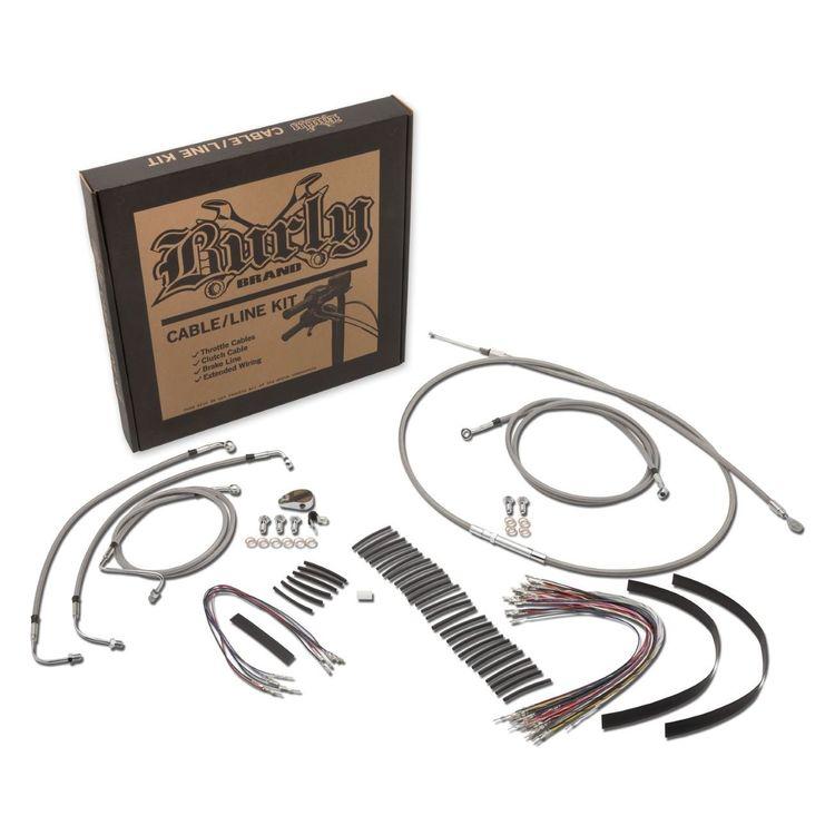 Burly Handlebar Cable Installation Kit For Harley