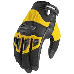 Icon Twenty-Niner Gloves - Closeout (Color: Yellow / Size: 2XL) 419034