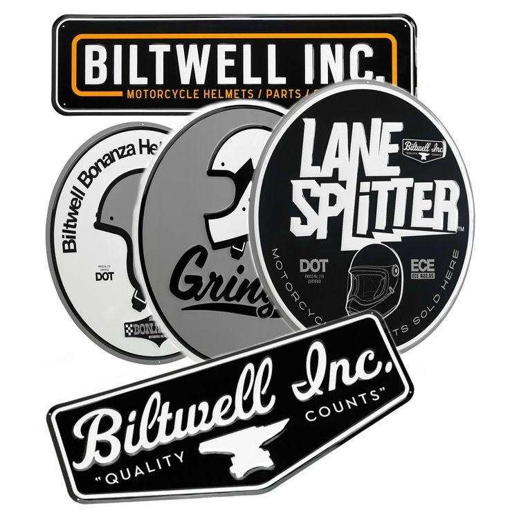 Biltwell Metal Shop Sign