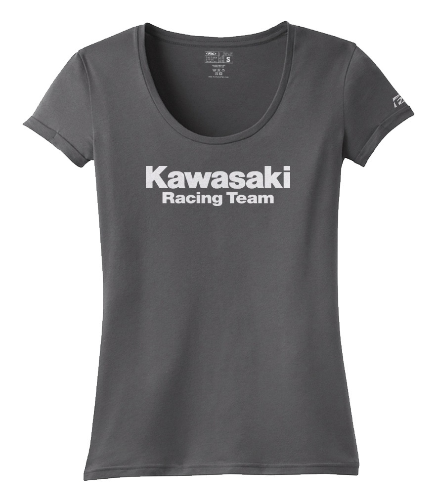 Factory Effex Womens Kawasaki Stripes T-Shirt Womens Tee