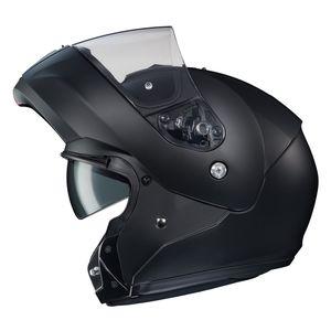 HJC CL-MAX 3 Modular Snow Helmet Amber Inner Shield Matte Black Dual Lens Shield