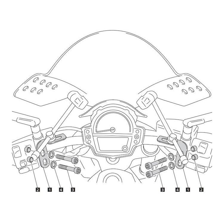 Puig Windscreen Adapter Kawasaki