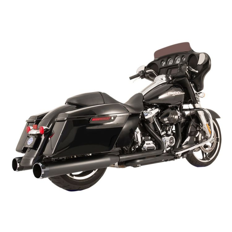 S&S El Dorado Dual Exhaust With Thruster Mufflers For Harley Touring