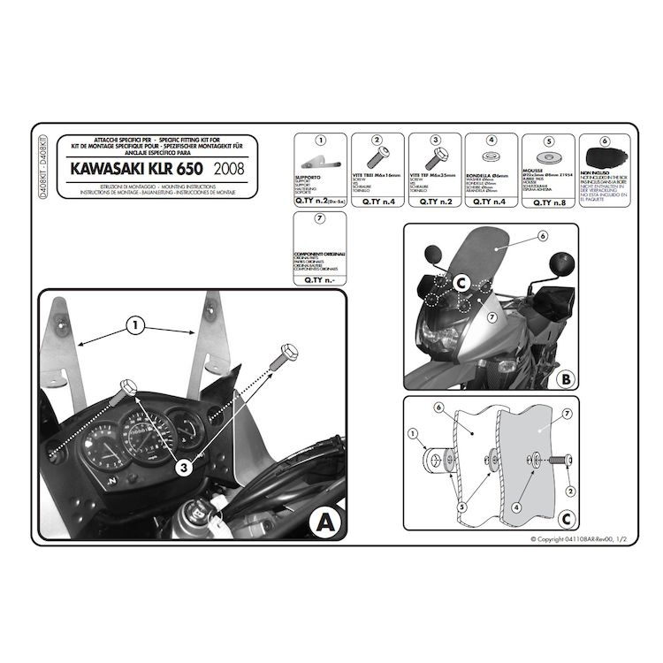Windscreen + Installation Kit