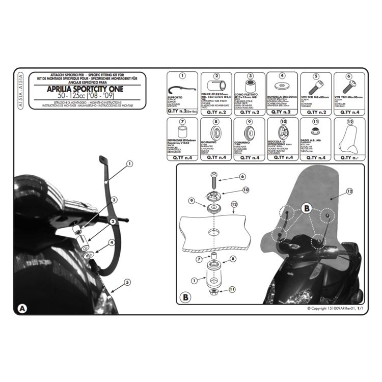 134A Windscreen + Installation Kit