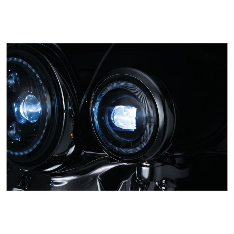"Kuryakyn Orbit Vision 4.5"" LED Halo Passing Lamps For Harley"