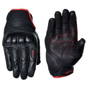 Men/'s Red Leather//Mesh Racing Sportbike Glove w// Wrist Strap /& Flex Knuckles