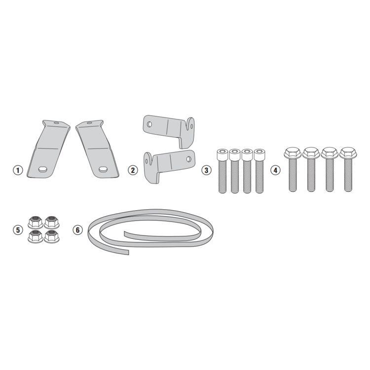Givi 1146KIT Brackets For Side Case Racks Honda NC700X / NC750X