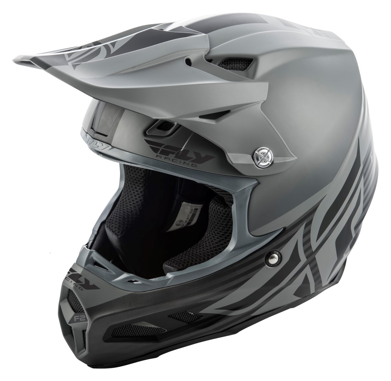 Fly Racing F2 Carbon MIPS Granite Helmet All Sizes Black//White//Grey