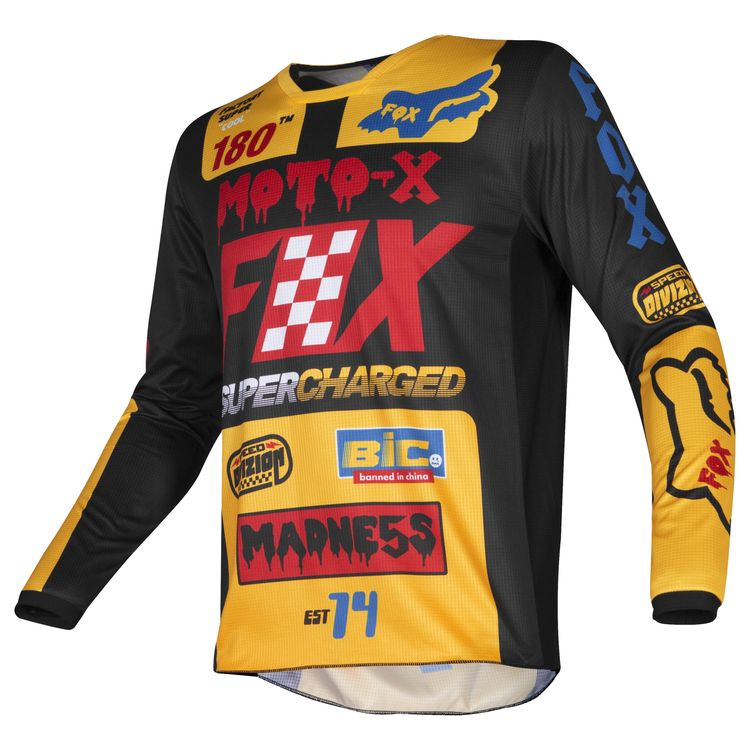 f00a5ad5840 Fox Racing Youth 180 Czar Jersey. Write a Review. Black Yellow