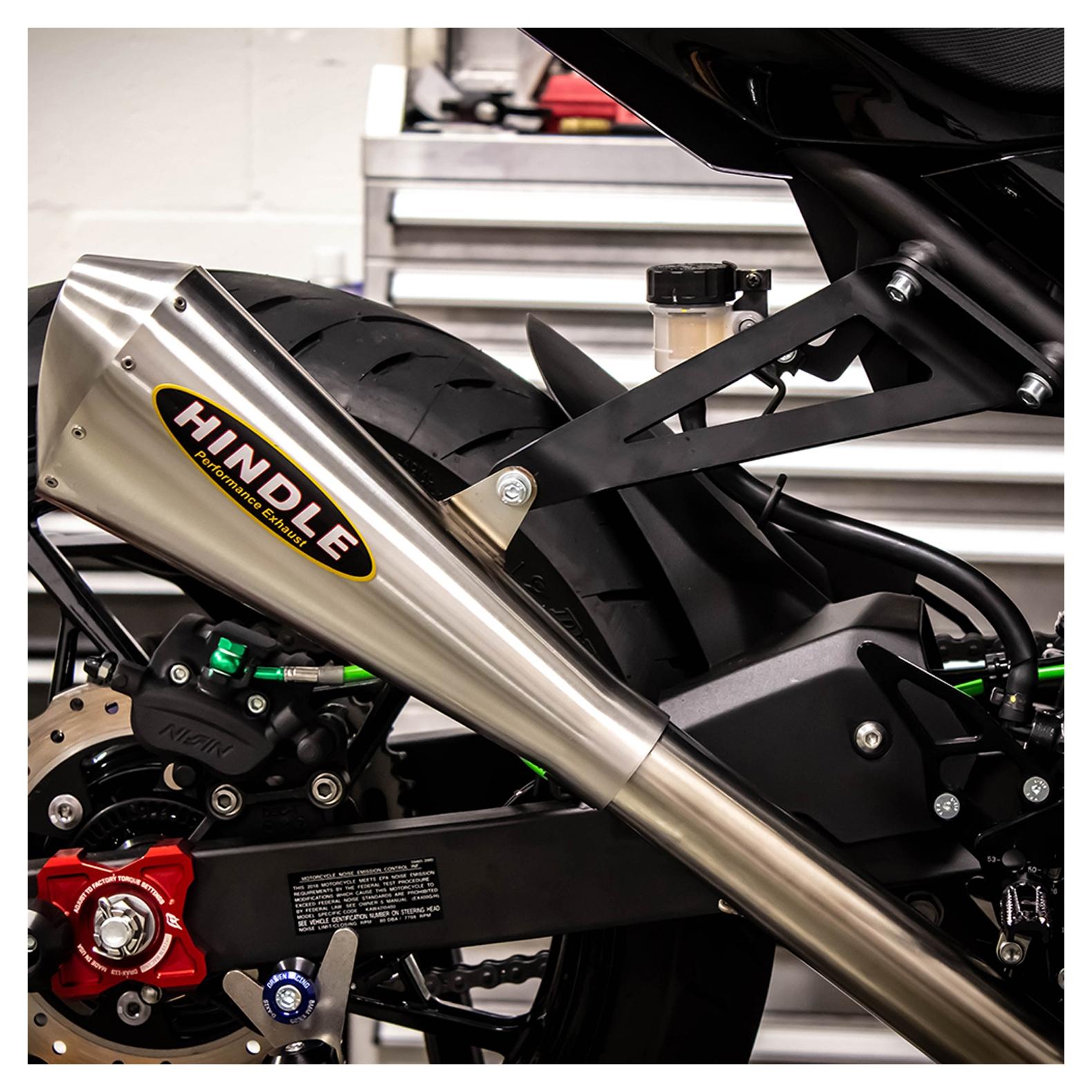 Hindle EVO Megaphone Exhaust System Kawasaki Ninja 400 / Z400 2018-2019