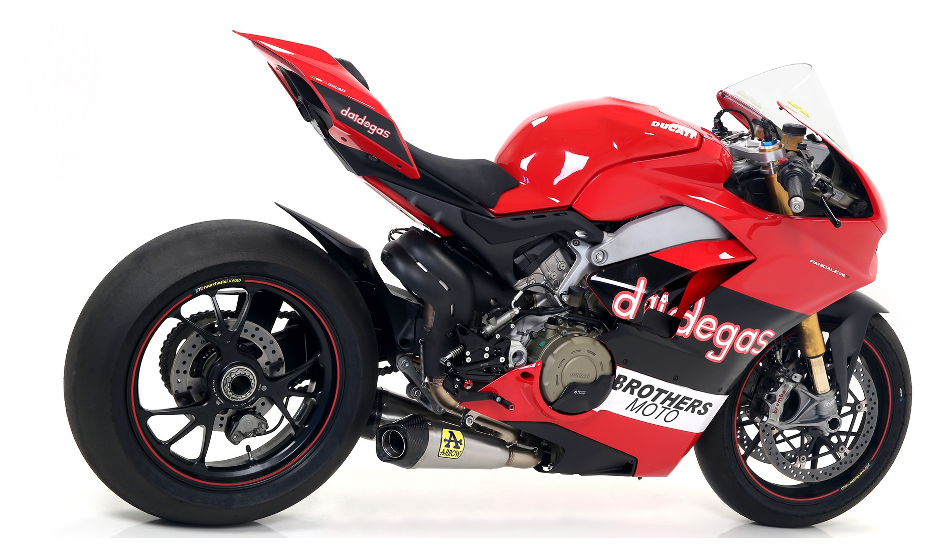 Arrow Works Slip On Exhaust Ducati Panigale V4 S 2018 2019 Cycle