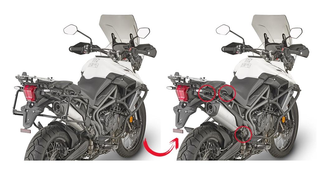 34e6b10d8 Givi PLR6413 Rapid Release Side Case Racks Triumph Tiger 800 XC   XR 2019 -  Cycle Gear