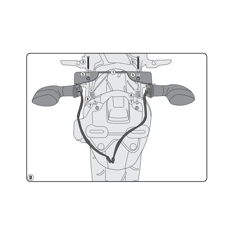 Givi IN2132KIT Turn Signal Relocation Kit Yamaha FZ-09 / MT-09 2017-2020