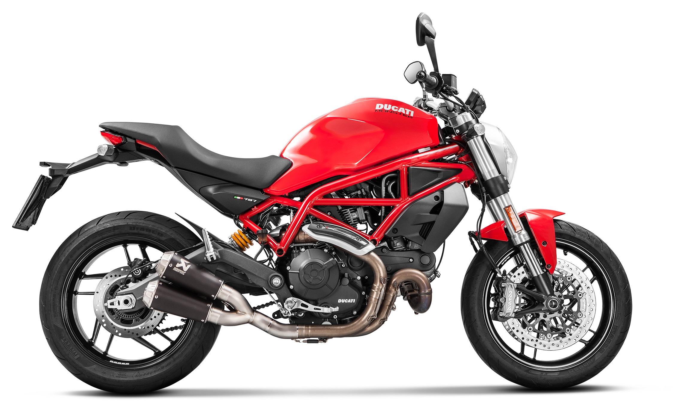 Akrapovic Gp Slip On Exhaust Ducati Scrambler Monster 797 797