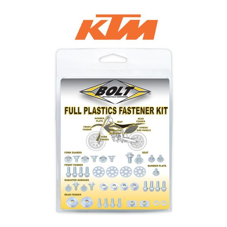 Bolt Hardware Full Plastics Fastener Kit KTM EXC 2004-2007