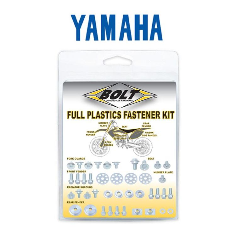 Bolt Hardware Full Plastics Fastener Kit Yamaha 250cc-450cc 2006-2013