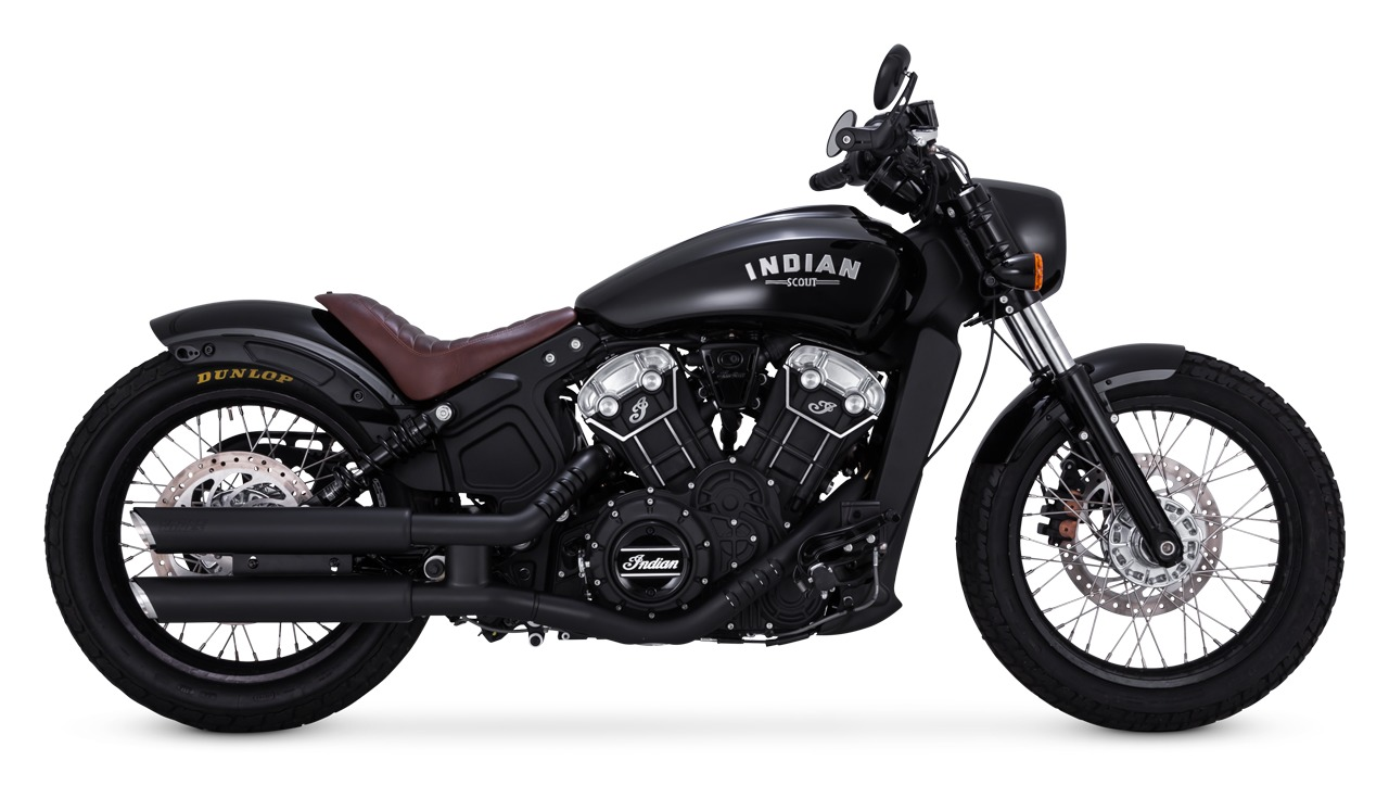 vance hines 3 round twin slash slip on mufflers for indian scout 2015 2020 cycle gear. Black Bedroom Furniture Sets. Home Design Ideas