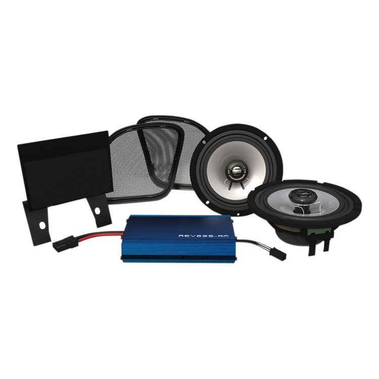 Hogtunes Front Speakers And 225 Watt Amp Kit For Harley Road Glide 2015-2019