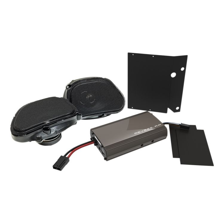 Hogtunes Front Speakers And 225 Watt Amp Kit For Harley Road Glide 1998-2013